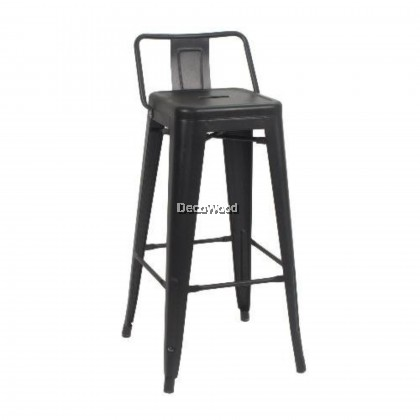 High Metal Bar Chair Stool (Black Color) L360MM X W360MM X H760MM