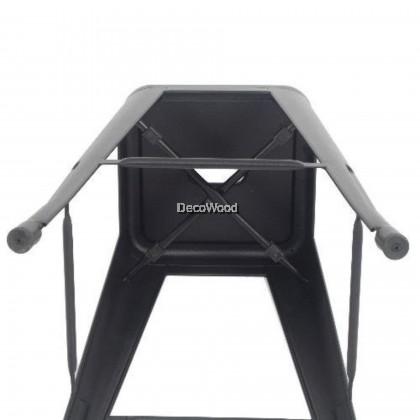 High Metal Bar Chair Stool (Black Color) L360MM X W360MM X H760MM