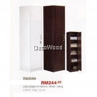 1 Door Wardrobe - L400MM X W480MM X H1790MM (White Color)