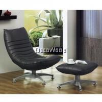 Zantoi Grey Relax TV Chair with Ottoman Recliner Hall Chair Sleep Chair Nap Chair (Life-Time Warranty)