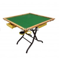 3V High Quality Wooden-Edge Foldable Mahjong Table With Wooden Drawers