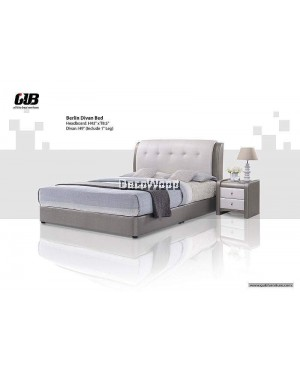 BERLIN Divan Bed Frame Swiss Foundation Bedframe