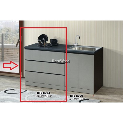 Ready-Fixed 2-Feet Kitchen Cabinet Kitchen Rack Kitchen Storage Kitchen Dish Washer L600MM X W600MM X H830MM