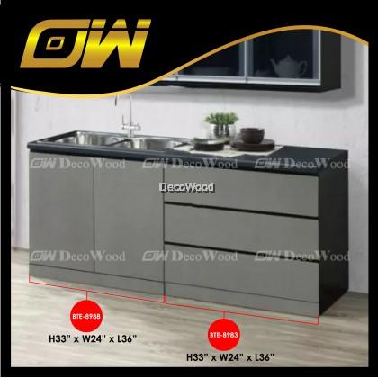 Ready-Fixed 3-Feet Kitchen Cabinet Kitchen Rack Kitchen Storage Kitchen Dish Washer L900MM X W600MM X H830MM
