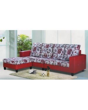 Charlie Tamara Tulip Fabric L-Shape Sofa Lounge Chair Relax Sofa Floral Design Flowers