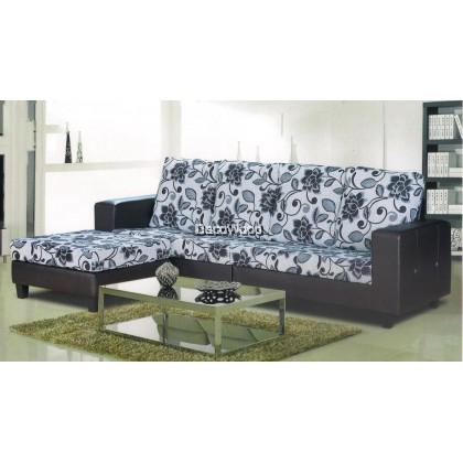Clementine Jane Fully Fabric L-Shape Sofa Lounge Chair Relax Sofa Floral Design Flowers
