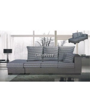 Iris May Fabric L-Shape Sofa Lounge Chair Relax Sofa Floral Design Flowers