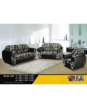 Hazel Patricia Fully Fabric 2+3 Seater Sofa Lounge Chair Relax Sofa Floral Design Flowers