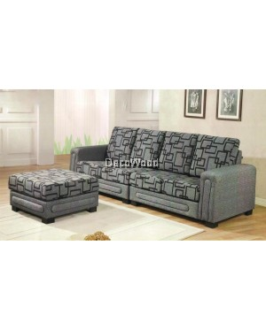 Deni Montana Fully Fabric L-Shape Sofa Lounge Chair Relax Sofa L2500MM X W880MM X H880MM