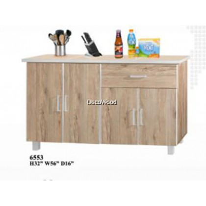 4.5 Feet Kitchen Cabinet With Mosaic Top / Kitchen Storage Cabinet / Microwave Oven Cabinet L1400MM X W400MM X H800MM
