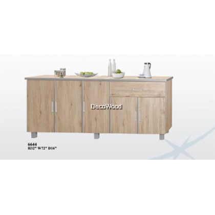 6 Feet Kitchen Cabinet With Mosaic Top / Kitchen Storage Cabinet / Microwave Oven Cabinet / Water Dispenser Cabinet L1800MM X W400MM X H800MM