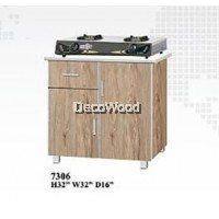 2.5 Feet Gas Cooker Cabinet With Mosaic Top / Cooking Cabinet / Kitchen Storage Cabinet L800MM X W400MM X H800MM