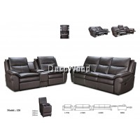 Aviana Olea Recliner Sofa 2+3 Seater Cowhide Leather Sofa