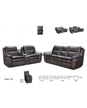 Aviana Olea Recliner Sofa 2+3 Seater Cowhide Leather Sofa