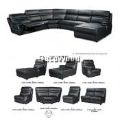Harper Seven Recliner L-Shape Sofa 7-Seater Leather Sofa