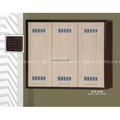 3 DOOR KITCHEN CABINET / STORAGE CABINET / RACK CABINET / MULTI-PURPOSE CABINET / RAK PINGGAN MANGKUK L1200MM X H1000MM X W400MM