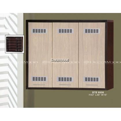 3 DOOR KITCHEN CABINET / STORAGE CABINET / RACK CABINET / MULTI-PURPOSE CABINET / RAK PINGGAN MANGKUK L1200MM X H1000MM X W400MM