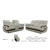 Giovanna Marie Recliner Sofa 2+3 Seater Leather Sofa
