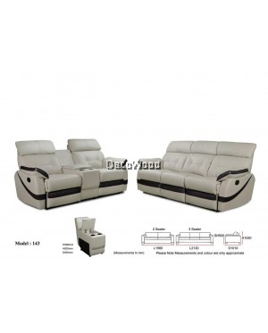 Giovanna Marie Recliner Sofa 2+3 Seater Leather Sofa