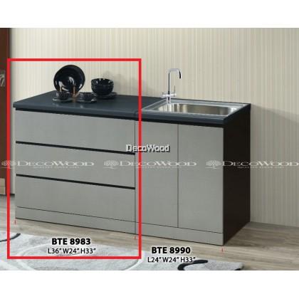 KITCHEN CABINET / KITCHEN RACK / KITCHEN STORAGE WITH MOSAIC TOP L900MM X W600MM X H800MM