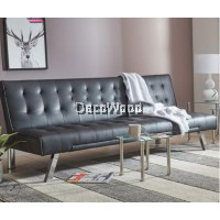 JOANNE ADJUSTABLE PU LEATHER SOFA BED L185 X W110 X H32CM (OPENED)