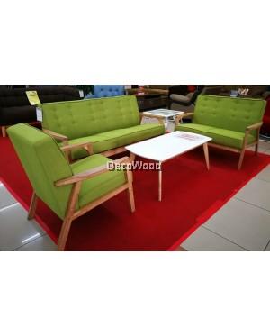 Jessy Solid Wood 1+2+3 Fabric Sofa Set With Coffee Table /Wood Sofa/Hall Sofa/Lounge Sofa/Relax Sofa/Hall Chair/T V Chair/TV Sofa
