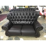 Jeremy 2-Seater Leather High Class Sofa Lounge Chair Relax Sofa L1660MM X W950MM X H990MM
