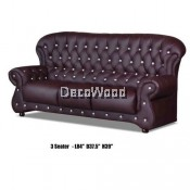 Genius 3-Seater Leather High Class Sofa Lounge Chair Relax Sofa L2130MM X W950MM X H990MM