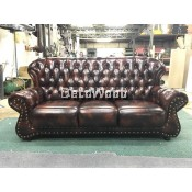 Benjamin 3-Seater Leather High Class Sofa Lounge Chair Relax Sofa L2130MM X W950MM X H990MM