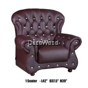 Genius 1-Seater Leather High Class Sofa Lounge Chair Relax Sofa L1060MM X W950MM X H990MM