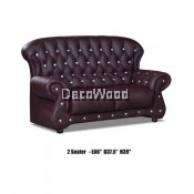Genius 2-Seater Leather High Class Sofa Lounge Chair Relax Sofa L1660MM X W950MM X H990MM