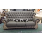 Johny 3-Seater Leather High Class Sofa Lounge Chair Relax Sofa L2130MM X W950MM X H990MM