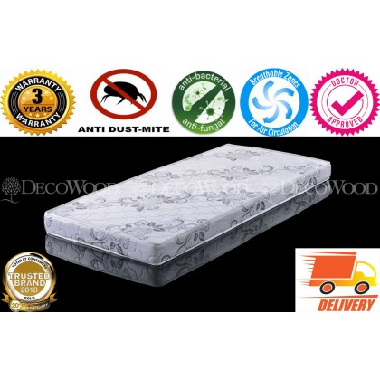6 Inches Natural Foam Quilted Cooling Posture Mattress / Tilam Natural Foam With 1 YEARS WARRANTY