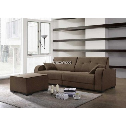 Leo L-Shape Fabric Sofa L2430MM X W830MM X H860MM
