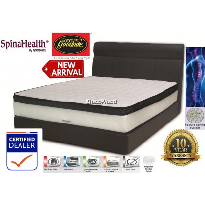 *NEW ARRIVAL* Goodnite SpinaHealth Posture Spring Mattress Plush Top 10.5 Inch (New Edition) Queen Size - 10 Years Warranty