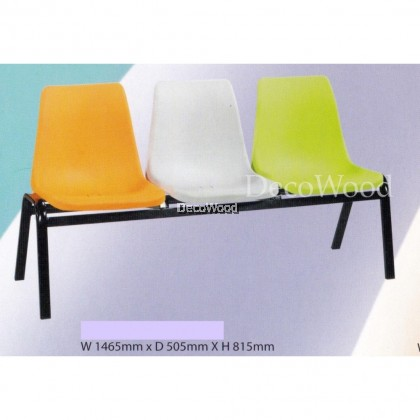 Deco Waiting Area 3-Seater Link Chair/Waiting Area Bench/Waiting Area Chair/Clinic Chair/Hall Chair/Hall Bench/Outdoor Bench/Indoor Bench/Long Bench L1465MM X D505MM X H815MM Pre-Order 2 Week