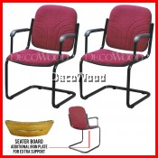 Set of 2 Units Office Chair With Backrest And Armrest Prosperity Chair Dining Chair Plastic Chair Outdoor Bench Chair Outdoor Chair Patio Chair Patio Bench Smoking Area Chair Resting Area Chair Staff Room Bench Waiting Chair Lounge Chair Home Chair
