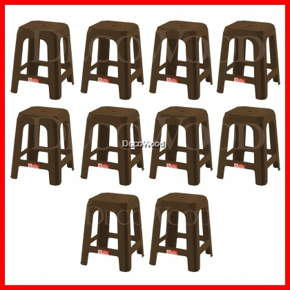 Set of 10 Units Strong Plastic Stool Prosperity Chair Dining Chair Plastic Chair Outdoor Bench Chair Outdoor Chair Patio Chair Patio Bench Smoking Area Chair Resting Area Chair Staff Room Bench Waiting Chair Waiting Bench Lounge Chair/Home Chair