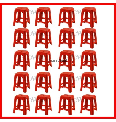 Set of 20 Units Strong Plastic Stool Prosperity Chair Dining Chair Plastic Chair Outdoor Bench Chair Outdoor Chair Patio Chair Patio Bench Smoking Area Chair Resting Area Chair Staff Room Bench Waiting Chair Waiting Bench Lounge Chair/Home Chair