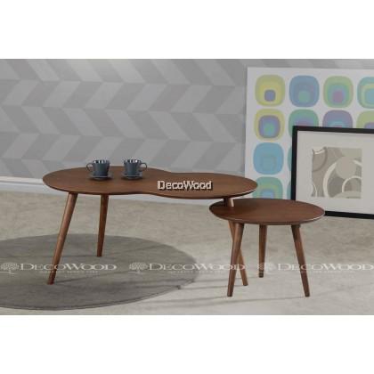 2 IN 1 Coffee Table / Living Room Table / Hall Table / Tea Table / Side Sofa Table / Meja Kopi / Meja Ruang Bilik Office