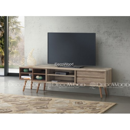 TV Cabinet Wood / Hall Cabinet / Lounge Cabinet / Display Cabinet / LCD Cabinet / TV Rack / TV Table / Console Cabinet