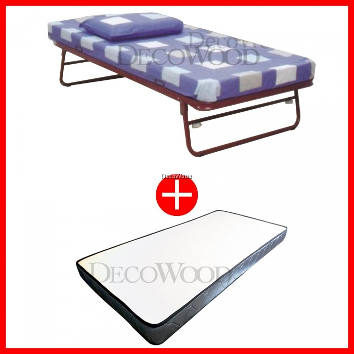 Single Size Metal Bedframe With Roller/Pull Out Bed/Single Metal Bed ...