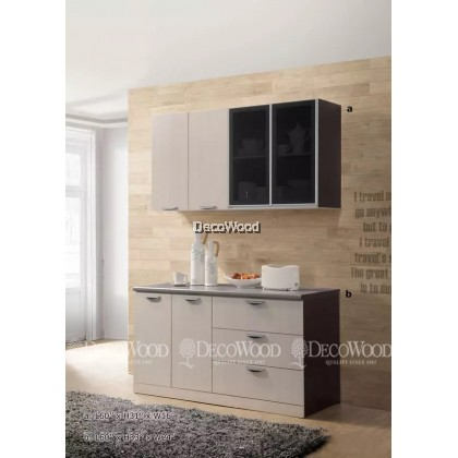 """Kitchen Cabinet / Kitchen Rack / Kitchen Storage With Mosaic Top H31"""" X L60"""" X W16"""" / BOTTOM CABINET  L60"""" X H33"""" X W24"""""""