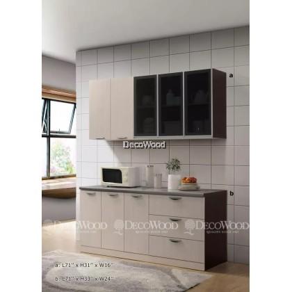 """Kitchen Cabinet / Kitchen Rack / Kitchen Storage With Mosaic Top H31"""" X L71"""" X W16"""" & H33"""" X L71"""" X W24"""""""
