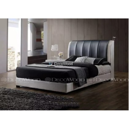 """Solid Wood Strong King & Queen Size Wooden Bed Frame With Headboard Storage  H46"""" X D8"""""""