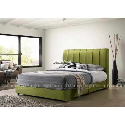 """Solid Wood Strong King & Queen Size Wooden Bed Frame With Headboard Storage  H48"""" X D8"""""""