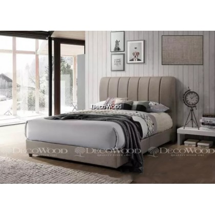 """Solid Wood Strong King & Queen Size Wooden Bed Frame With Headboard Storage  H43"""" X D6"""""""