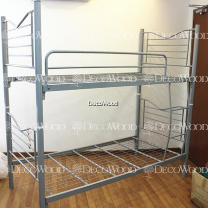 *PROMOTION* Single Size Metal Bunk Bed / Splittable Bed / 2 Convertible to 1 Double Decker Bed / Single Metal Bed / Single Bed / Couple Bed / Couple Bedframe / Adult Bedframe / Large Bed / Homestay Bed / Master Bedroom Bed / Katil Besi Kuat