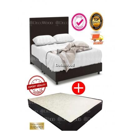 Neslo Divan Bed with 5-Inch HD Natural Foam Firm Mattress ( BedFrame + Mattress Set)