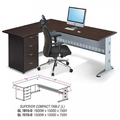 L-Shape Compact Table / Office Desk / Office Meeting / Table Discussion / Table Writing / Table Study / Table Director / Table Boss / Table Clerk & Staff